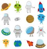 Ícone do espaço dos desenhos animados Imagem de Stock