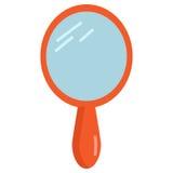 Ícone do espelho de mão do vintage, ilustração do vetor ilustração do vetor