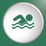 Ícone do esporte de água da natação Imagem de Stock Royalty Free