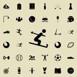 ícone do esquiador Ostente o grupo universal dos ícones para a Web e o móbil ilustração stock