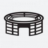 Ícone do estádio ilustração stock