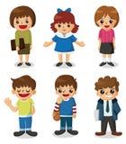 Ícone do estudante dos desenhos animados ilustração stock