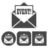 Ícone do evento - ícones ajustados ilustração do vetor