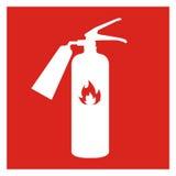 Ícone do extintor isolado no fundo Ilustração do vetor Foto de Stock