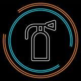 Ícone do extintor - proteção do símbolo da segurança foto de stock