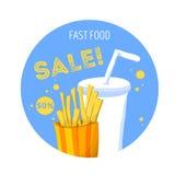 Ícone do fast food Foto de Stock Royalty Free