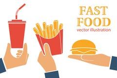 Ícone do fast food Imagem de Stock