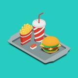 Ícone do fast food Imagens de Stock