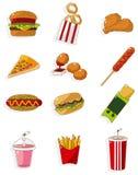 Ícone do fast food dos desenhos animados ilustração royalty free