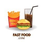Ícone do fast food, símbolos do vetor Foto de Stock
