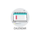 Ícone do fim do prazo do mês da data de calendário ilustração royalty free