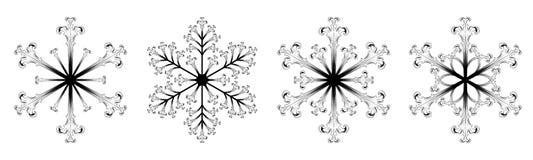 Ícone do floco de neve ilustração royalty free