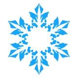 Ícone do floco de neve Illlustration do vetor Isolado no fundo branco Imagens de Stock Royalty Free