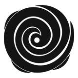 Ícone do furacão, estilo simples ilustração stock