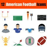 Ícone do futebol americano Fotos de Stock