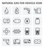 Ícone do gás natural ilustração stock