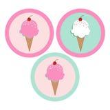 Ícone do gelado Imagens de Stock