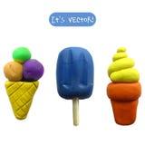 Ícone do gelado do plasticine Imagem de Stock