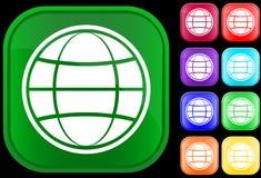 Ícone do globo Fotografia de Stock