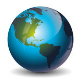 Ícone do globo Foto de Stock Royalty Free