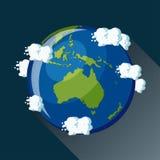Ícone do globo de Austrália Imagens de Stock Royalty Free