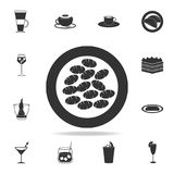 ícone do gnocchi Grupo detalhado de ilustrações italianas dos alimentos Ícone superior do projeto gráfico da qualidade Um dos íco ilustração do vetor