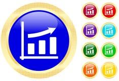Ícone do gráfico de negócio   Fotografia de Stock