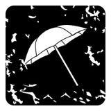 Ícone do guarda-chuva, estilo do grunge Imagens de Stock