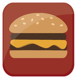 Ícone do Hamburger Foto de Stock Royalty Free