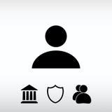 Ícone do homem de negócio, ilustração do vetor Estilo liso do projeto Foto de Stock