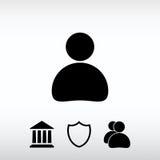 Ícone do homem de negócio, ilustração do vetor Estilo liso do projeto Imagem de Stock