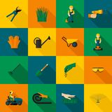 Ícone do homem do gramado liso ilustração stock