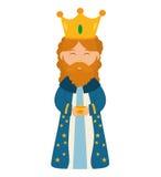 Ícone do homem sábio Projeto do Feliz Natal Gráfico de vetor ilustração royalty free