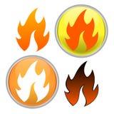 Ícone do incêndio ilustração stock
