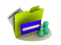 Ícone do Internet ilustração do vetor