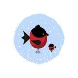 Ícone do inverno com um par dom-fafe Fotos de Stock