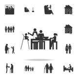 ícone do jantar da família Grupo detalhado de ícones da família Projeto gráfico superior Um dos ícones da coleção para Web site,  ilustração royalty free
