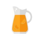 Ícone do jarro do suco Imagem de Stock