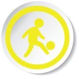 ícone do jogador de futebol Foto de Stock