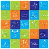 Ícone do jogo dos Olympics ou projeto diferente do símbolo ilustração royalty free