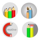 Ícone do lápis Imagem de Stock Royalty Free
