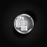 Ícone do leitor de mp3. Símbolo do jogador de música Imagens de Stock Royalty Free