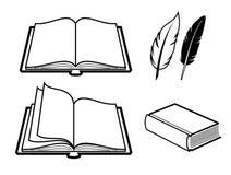 Ícone do livro Imagens de Stock
