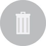 Ícone do lixo da rua Fotografia de Stock Royalty Free