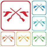 Ícone do logotipo do clube de caça Imagens de Stock