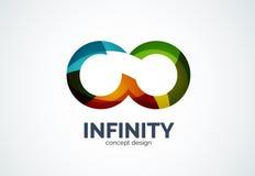 Ícone do logotipo da empresa da infinidade ilustração royalty free