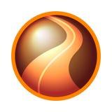 Ícone do logotipo da estrada Foto de Stock