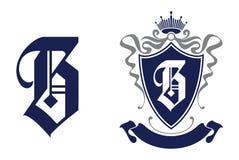 Ícone do logotipo da letra B Molde do projeto Imagens de Stock Royalty Free