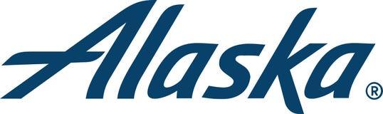 Ícone do logotipo da linha aérea de Alaska ilustração do vetor
