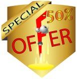 Ícone do logotipo da oferta especial da oferta do desconto especial da bandeira Imagem de Stock